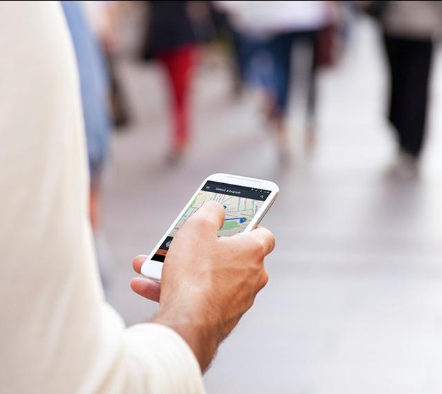 Entering queue with a mobile app