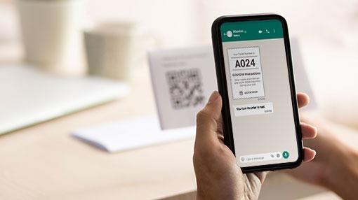 QR code scanning for WhatsApp Queuing