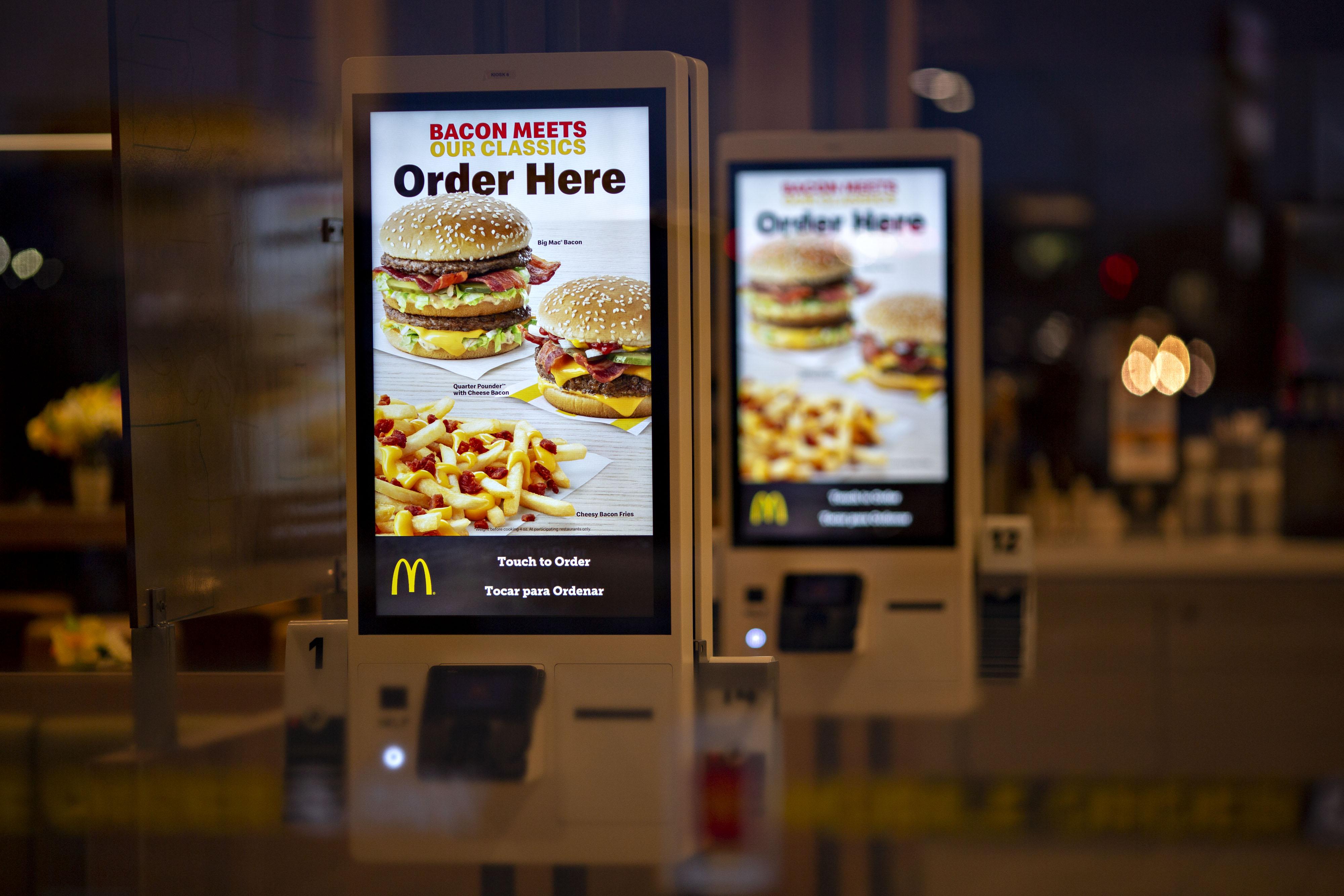 mcdonalds self ordering kiosk