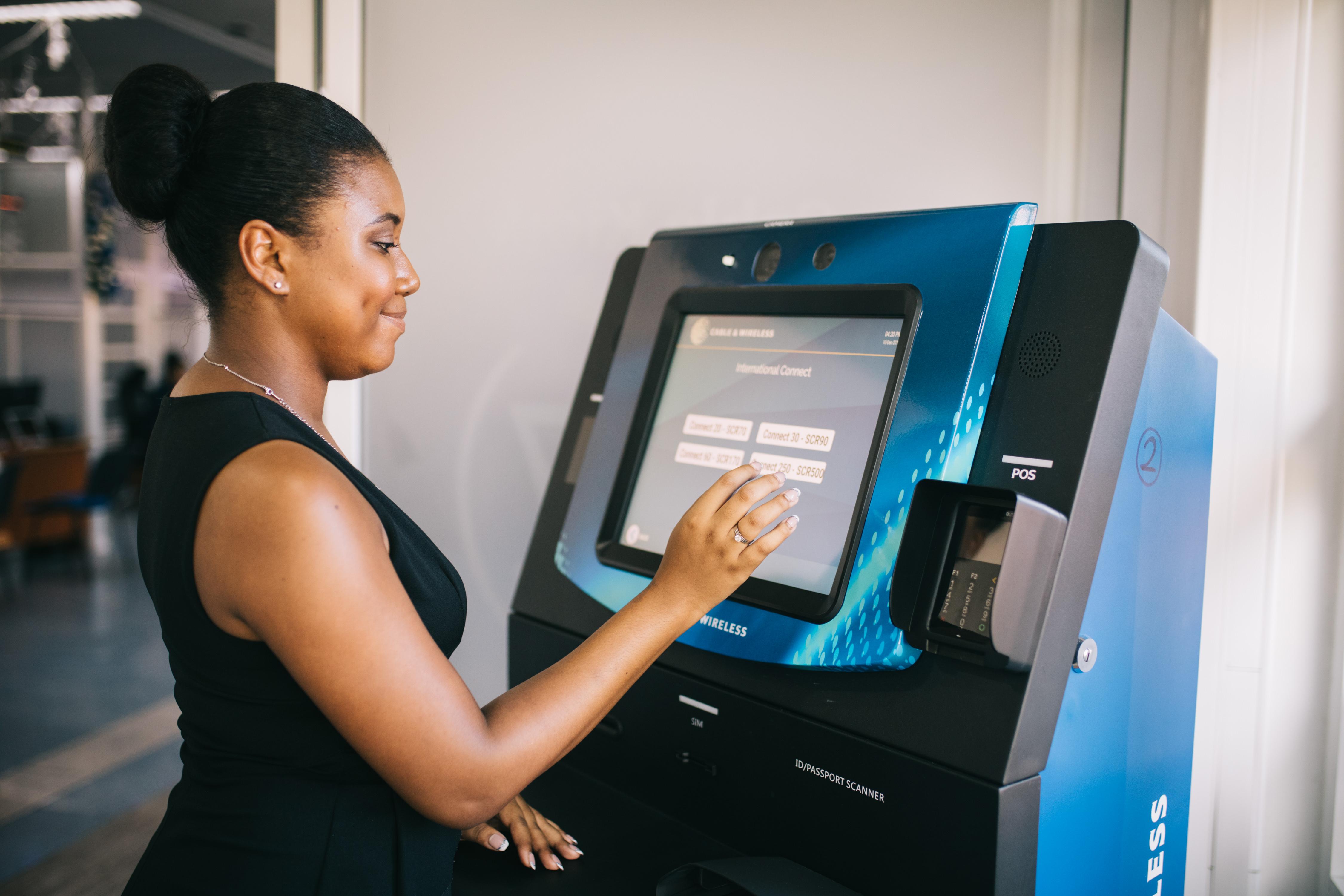 Azimut Sim Dispensing Kiosk Cable & Wireless